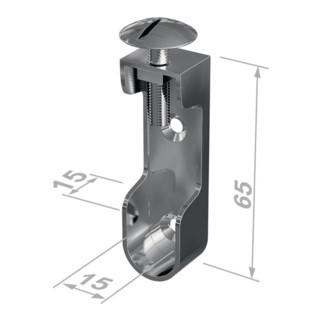 Schrankrohrlager 11118 Zinkdruckg.vern.Wandmont.30x15mm