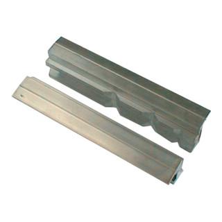 Schraubstockschutzbacken m. Prismen, 140 mm Backenbreite, Spannen von Werkstücke