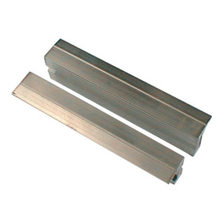 Schraubstockschutzbacken m. Rillenprofil, 140 mm Backenbreite, m. Magnet-Halteru