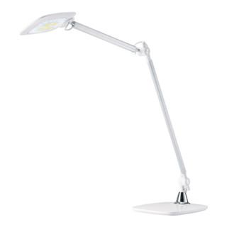 Schreibtischlampe Alu.weiß m.Standfuß m.LED