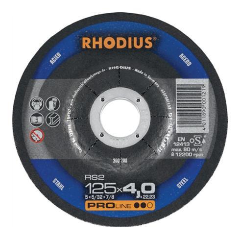 Schruppscheibe RS2 D.125x7,0mm gekr. 22,23mm RHODIUS