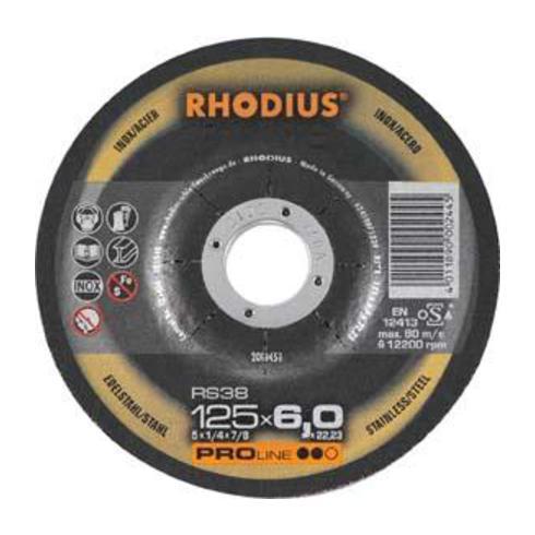 Schruppscheibe RS38 D.230x7,0mm gekr. 22,23mm RHODIUS