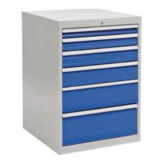 Schubladenschrank H1019xB705xT736 grau/blau 1x75 1x100 1x125 1x150 1x200 1x250
