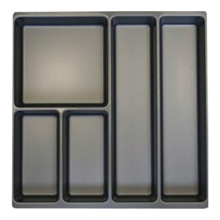 Schubladenunterteilungsmaterial Front-H.60mm 5 Fächer