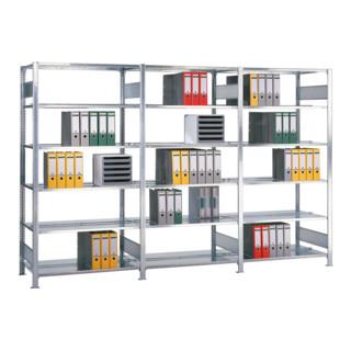 Schulte Anbauregal Büro-Schraubregal MULTIplus150 verzinkt ohne Mittelanschag