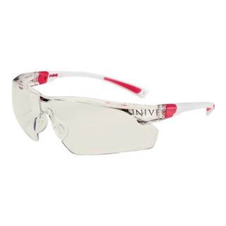 Schutzbrille 506UP Bügel weiß/rosa Anti-Kratz u. Anti-Beschlag Plus EN166 Panora
