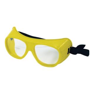 Schutzbrille klar f.Brillenträger splitterfrei m.Gummiband EN166