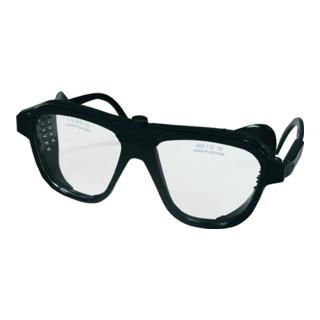Schutzbrille klar Verbundglas splitterfrei schw. Glasgröße 62x52mm EN166