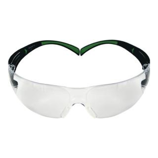 Schutzbrille SecureFit™-SF400 Bügel schwarz grün PC-Scheibe klar EN166 EN170