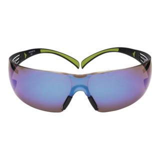 Schutzbrille SecureFit400 Bügel schwarz grün AS EN166 PC blau verspiegelt