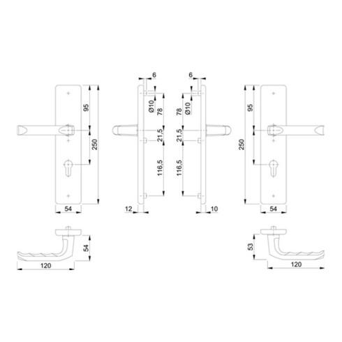 Schutzgarnitur London 113/2221/2210 Alu.F4 72mm 42-47mm