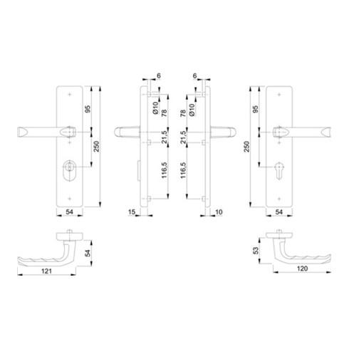 Schutzgarnitur London 113/2222ZA/2210 Alu.F4 72mm 42-47mm