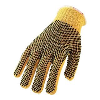 Schutzhandschuhe Kevlar gelb zweiseitig mit Noppen EN388 Kat. II