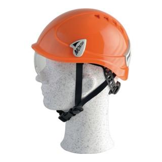 Schutzhelm Montana Roto orange m integr. Scheibe PC EN397 m. 6 Pkt.Textilbebänd.