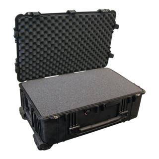 Schutzkoffer B.801xT.521xH.317mm staub wasserdicht rollbar m. Schaumstoffeinlage