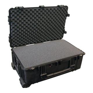 Schutzkoffer B.802xT.520xH.316mm staub wasserdicht rollbar m. Schaumstoffeinlage
