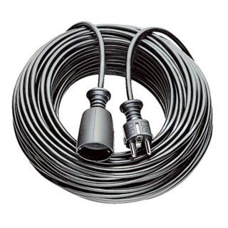 Schutzkontaktverlängerung 16 A 250 V 10m H05VV-F 3x1,5 mm² schwarz