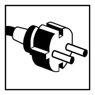 Schutzkontaktverlängerung Gummistecker/3-Wege-Kupplung L.10m H07RN-F 3x1,5mm2