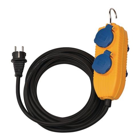 Schutzkontaktverlängerung m.Powerblock 5m H07RN-F 3x1,5 mm²