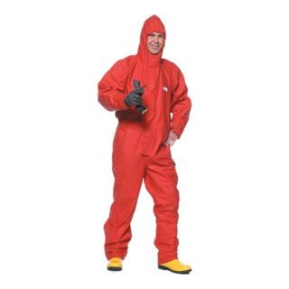Schutzoverall Gr.XL rot Concept 2800 Chemikalienschutz KIND m.Kapuze