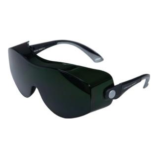 Schweißerbrille Carina Klein Rahmen schwarz Gläser IR 4-5.0 grün getönt