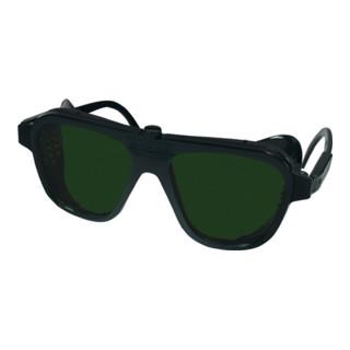Schweißerbrille grün DIN5 62x52mm Gestell schwarz EN166 EN169