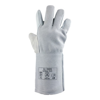 Schweißerhandschuhe Gr.10,5 naturfarben Leder EN 388,EN 407 Kat.II 12 PA