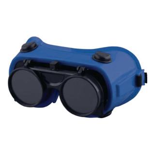 Schweißerschutzbrille EN169 EN169 EN175 DIN 5 innen, außen klare Scheibe blau