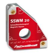 Schweißkraft SSWM 20 Standard Schweißwinkelmagnet 30° / 60° / 45° / 90°
