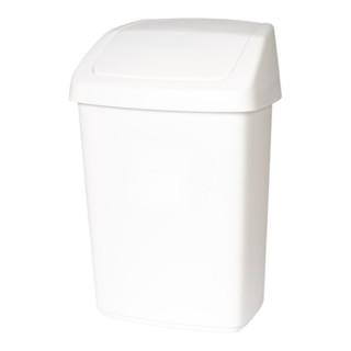 Schwingdeckelbehälter 10l Kunststoff weiß H377xB246xT198mm