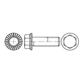 Sechskant-Flanschschraube VG M10x20 Stahl 10.9 zinklamellenbeschichtet m. Sperrrippen