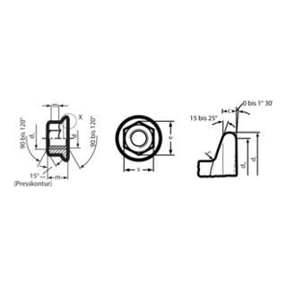 Sechskantflachbundmutter DIN 6331
