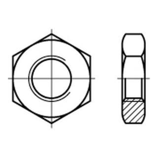 Sechskantmutter DIN 439 M 6 x 1 Stahl galvanisch verzinkt