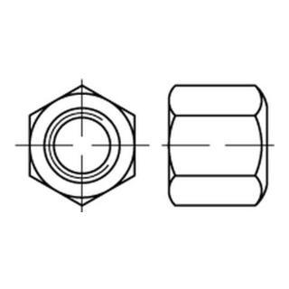 Sechskantmutter DIN 6330 M 24 x 3 Stahl blank