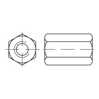 Sechskantmutter DIN 6334 M 24 x 3 Stahl blank