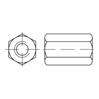 Sechskantmutter DIN 6334 M 36 x 4 Stahl blank