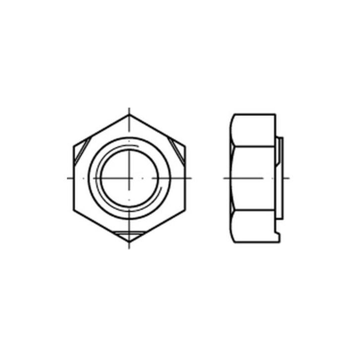 Schweißmuttern DIN 929 Stahl blank von M3 bis M16 lieferbar Sechskant