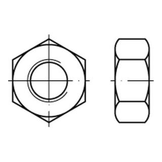 Sechskantmutter DIN 934 M 6 x 1 Edelstahl A2 blank