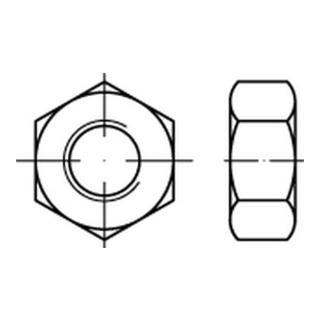 Sechskantmutter EN 14399 M 16 x 2 Stahl blank
