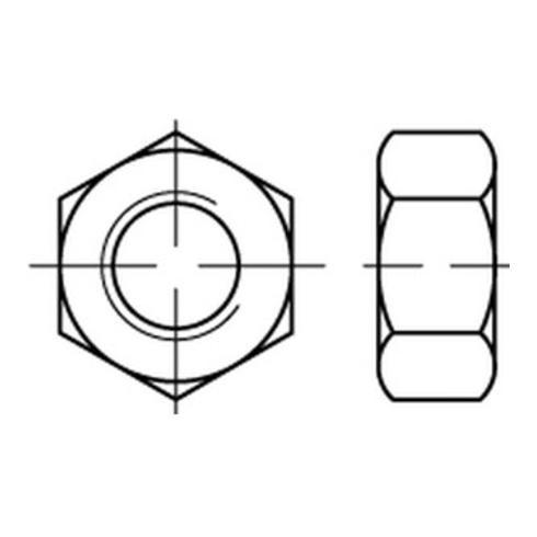 Sechskantmutter ISO 4032 M 22 x 2,5 Stahl galvanisch verzinkt