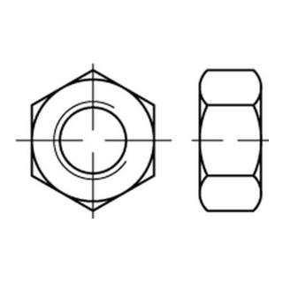Sechskantmutter ISO 4032 M 30 x 3,5 Stahl galvanisch verzinkt, gelb chromatiert