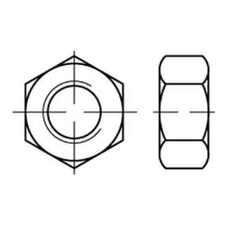 Sechskantmutter ISO 4032 M 6 x 1 Stahl galvanisch verzinkt dickschichtpassiviert