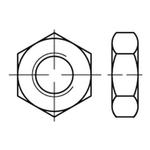 Sechskantmutter ISO 4035 M 12 x 1,75 Stahl galvanisch verzinkt