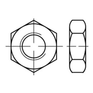 DIN 439-B/ISO 4035 Sechskantmutter niedrige Form Linksgewinde