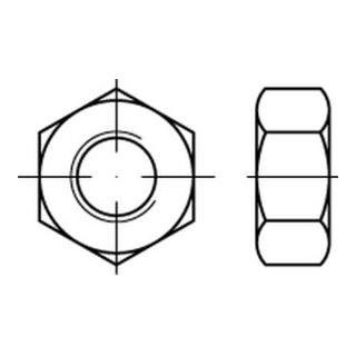 Sechskantmutter ISO 8673 M 20 x 1,5 Messing blank