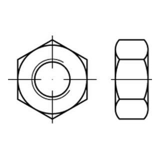 Sechskantmutter ISO 8673 M 20 x 1,5 Stahl galvanisch verzinkt
