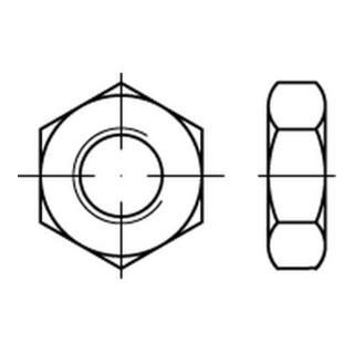 DIN 439-B/ISO 8675 Sechskantmutter niedrige Form Feingewinde