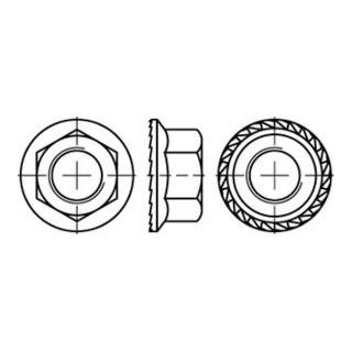 DIN 6923/EN 1661/ISO 4161 Sechskantmutter mit Sperrverzahnung und Flansch