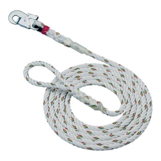 Seil L.20m EN353-2 m.Handschlaufe m.Karabinerhaken MAS Band-D.16mm