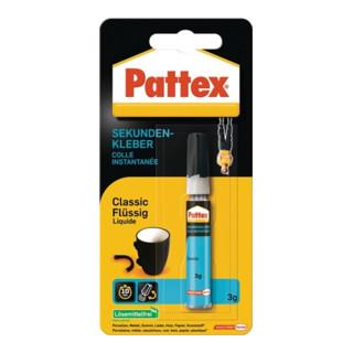 Sekundenkleber Classic flüssig farblos 3g Tube PATTEX